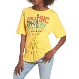 BP   Yellow Corset Band Tee
